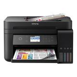Impresora A Color Multifunción Epson Ecotank L6171 Con Wifi 220v Negra
