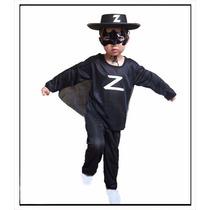 Disfraz Zorro Super Económico Completo Nenes Fiesta