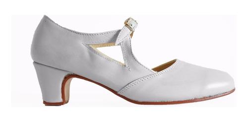 293539e1 Zapato Folklore, Español, Tango, Jazz, Danza - Cuero Blanco en venta ...