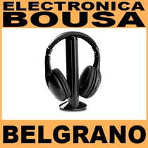 Auricular Inalámbrico Panacom Micrófono Radio Fm Tv Dvd Pc