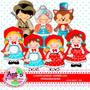 Kit Imprimible Caperucita Roja 7 Imagenes Clipart