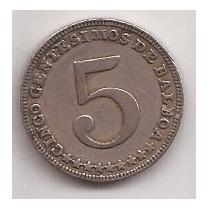 Panama Moneda De 5 Centesimos De Balboa Año 1961
