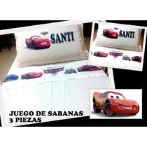 Juego De Sabanas 3 Piezas - Cars - El Rayo Mcqueen
