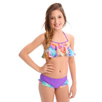 Bikini Con Volados Lycra Pecosos