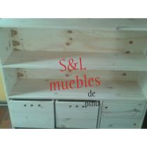 Mueble Organizador Infantil De Pino