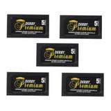 Hojas Para Afeitar Derby Premium X 5 Cajas Para Navaja Pelo