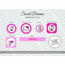 Stickers De Kitty Cortados Para Candy Bar O Mesa Dulce