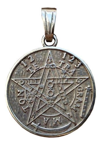 Medalla Dije Proteccion Plata 925 Tetragammaton Tetragamaton