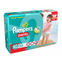 Pampers Pants Pañales Bombachitas Pull Up Xg 30 Uni + 12kg