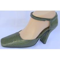 Sarkany Zapatos Baile Tango 39 Cuero Verde (ana.mar)