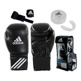 Kit Boxeo adidas Guantes + Vendas + Bucal Combo Box Mma