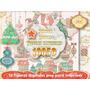 Kit Imprimible 13 Png Navidad Decoracion Mesa Navideña 3x1