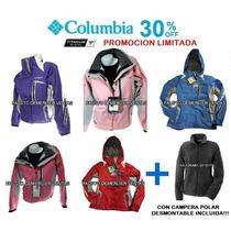 Campera Columbia Titanium 3 En Uno Mujer.consulte Talles!