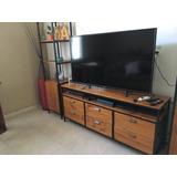Mueble Tv Diseño Industrial Hierro Y Madera