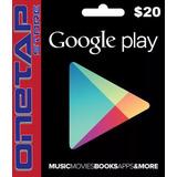 Tarjeta Google Play Store 20 Usd Usa - Onetap Store
