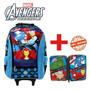Combo - Avengers Mochila Carro 18 + Cartuchera Metal 2 P