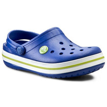 Zueco Crocs Crocband Infantil Azul Verde (consultar Stock)