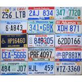 Chapa Patente Original Antigua Estados Unidos Usa Varias