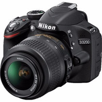 Nikon D3200 Kit 18-55 Reflex 24mp Full Hd Camara Nueva Gtia