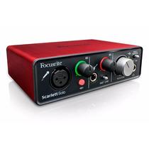 Placa De Sonido Audio Focusrite Scarlett Solo 1 Canal