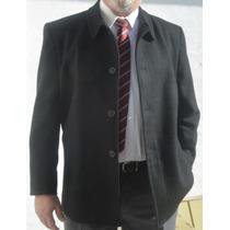Gaban Hombre Talles Especiales Desde 58 Al 64 Paño Negro