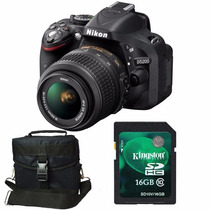 Nikon D5200 Kit 18-55mm+ Memo 16gb C10+ Bolso+ Envío+ Gtia!!