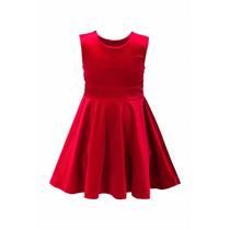 Vestido De Nena, Simil Terciopelo, Cinta De Raso, N-0032