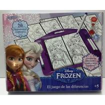Juego De Las Diferencias Disney Frozen Con Tablero Wal 70163