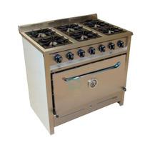 Cocina Industrial Gastroequip 6 Hornallas Acero Fundicion