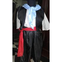 Disfraz Paisano/ Gaucho Talle 4/6 Completo Hermoso Seda