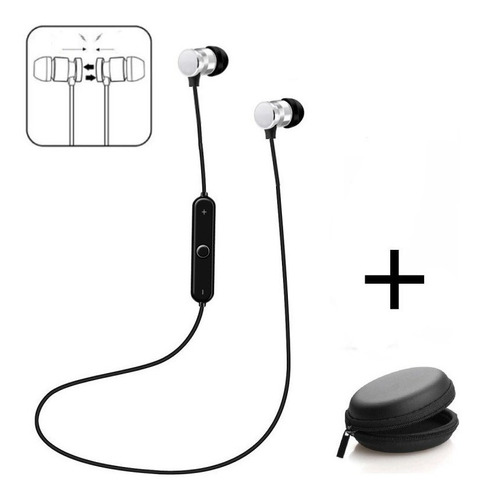Auriculares Bluetooth Celular Inalambrico Deportivos Magnetico + Estuche Compatible Android iPhone