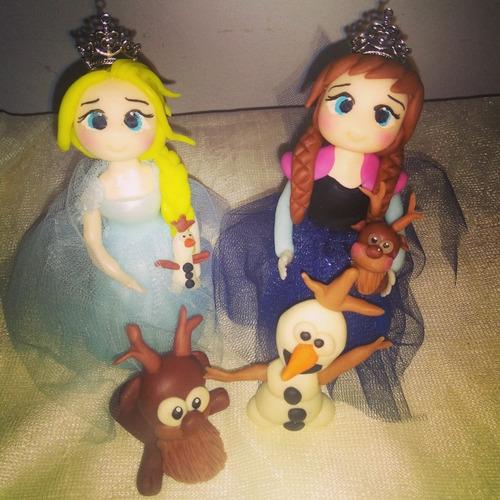 Princesitas Frozen En Porcelana Fria