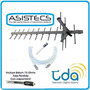Antena Tv Digital Hd Publica Tdt Tda Uhf 15e + 10 Mt Cable