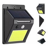 Aplique Reflector Led Panel Solar Con Sensor Movimiento 4w