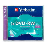 Dvd Rw Regrabable 4x 4.7gb Caja Slim 120min Verbatim