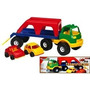 Juguetes Transporte Con 2 Autos Con Caja Rondi 3115