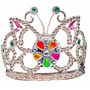 Corona De Princesa Luminosa Plastica Plateada Tiara