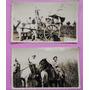 2 Fotografias Antiguas Campo Argentino Carruaje, Año 1926