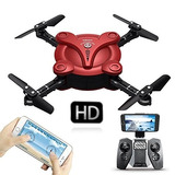 Mini Drone Plegable Wifi Camara Filma Hd Rc + Bateria Extra!