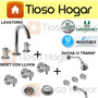 Set Griferia Hidromet Masterly Abiss Triply Baño Completo