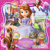 Kit Imprimible Princesa Sofia Candy Bar Golosinas Cumples