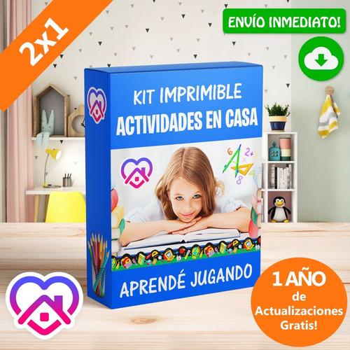 Kit Imprimible Actividades Para Niños En Casa