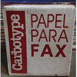 Rollo Para Fax Carbotype 216 Mm X25mts Caja X 50 Unidades