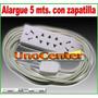 Alargue De 5 Metros, Con Zapatilla, Multi Ficha, Unocenter