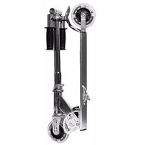 Monopatin Aluminio Plegable Reforzado Freno Suspension Luces