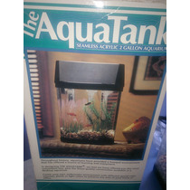 Pecera Hexagonal Aquatank De 2 Gallones Con Luz Y Aereador