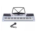Teclado Organo Musical Piano Lcd Led Electrico 54 Teclas Mic