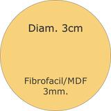 Figura Circulo 3 Cm De Diametro Fibrofacil Corte Laser 3mm