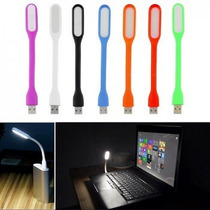 Luz Led Usb Lampara Flexible Pc Notebook Velador Escritorio