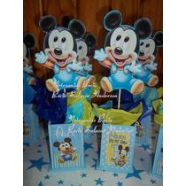 Centros De Mesa Mickey,minnie Bebe Base Personalizados 1 Año